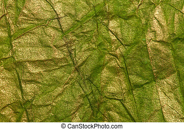 papper, grön, krossat, struktur