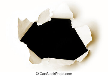 papper, hål