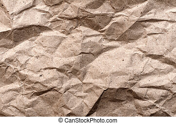 papper, krossat, struktur