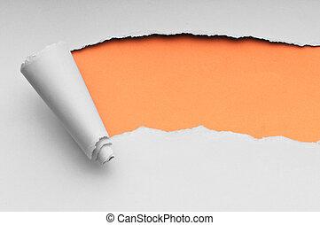 papper, meddelande, sönderrivet, din, utrymme