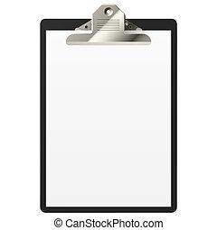 papper, skrivplatta, tom