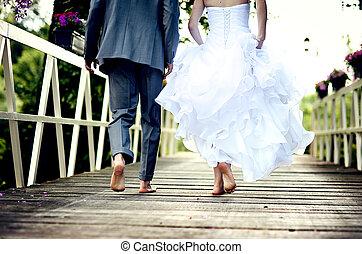 par, bröllop, vacker