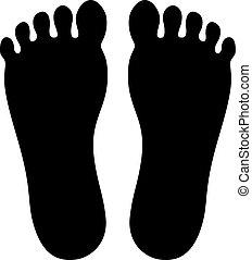 par, foots, mänsklig