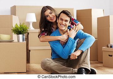 par, glatt hem, stående, färsk