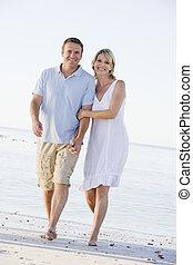 par, strand, le, gårdsbruksenheten räcker