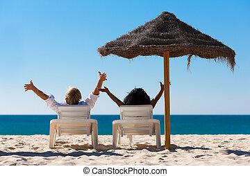 par, strand semester, parasoll