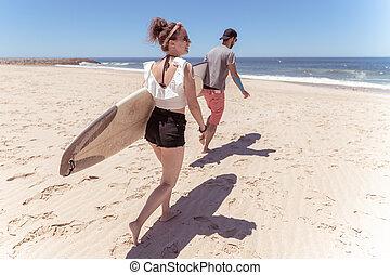 par, surfbräda, surfarear