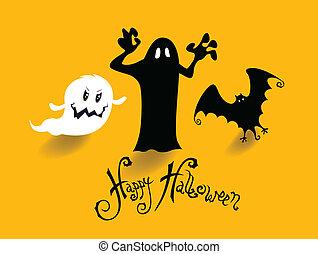 parti, halloween, nära, bakgrund