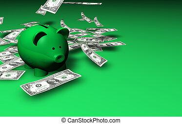pengar, besparingar, piggybank