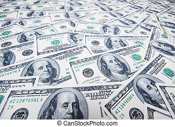 pengar, dollars, stack, bakgrund