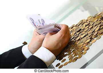pengar, fäste lämnar