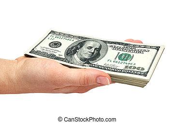 pengar, handfull
