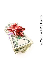 pengar, stack, bog