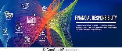 personlig, -, finans, baner, ansvar, &, sätta, nät, ikon, dykning