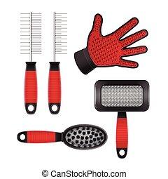 pet's, hår, utrustning