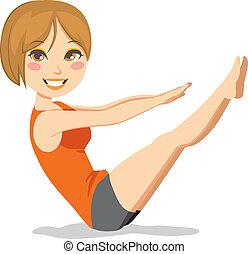 pilates, övning