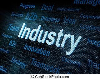 pixeled, industri, ord, avskärma, digital