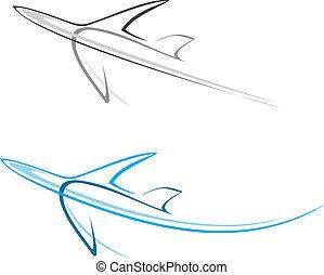 plan, trafikflygplan