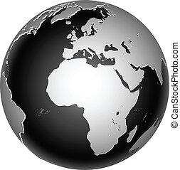 planet värld, global, ikon, värld