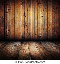 plankor, trä, gul, årgång, inre