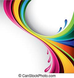 plaska, design, färgrik