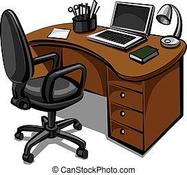 plats, kontor
