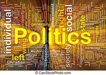 politik, glödande, begrepp, bakgrund, social