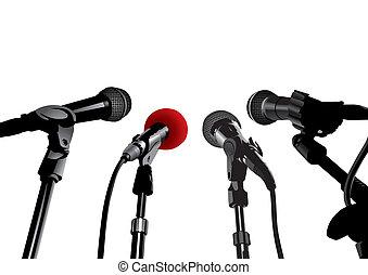 press konferensen, (vector)