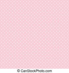 pricken, pastell, seamless, rosa, polka