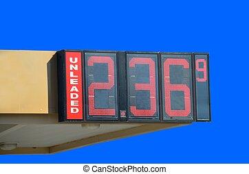 pris, gas, underteckna