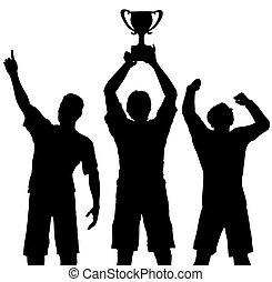 pris, vinnare, seger, fira, sports