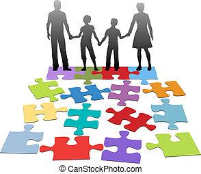problem, råd, förhållande, familj