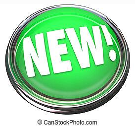 produkt, newest, lätt, knapp, uppdatering, färsk, nyheterna, blinkande