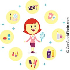 produkter, kosmetisk, ombyte