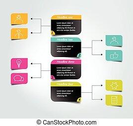 produktionsdiagram, infographic, scheme., element., diagram