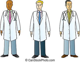 professionelle, medicinsk, labcoats