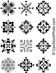 prydnad, dekor, mönster