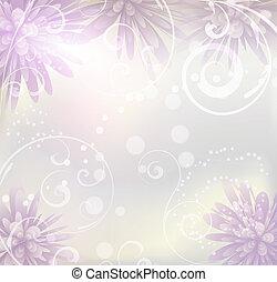 purpur, pastell, blomningen, färgad fond