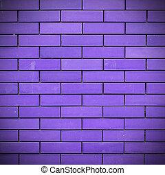 purpur, vägg, tegelsten, bakgrund, struktur