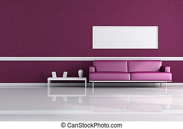 purpur, vardagsrum