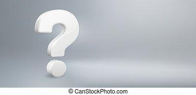qa., vektor, ifrågasätter, fråga, realistisk, ha, underteckna, faq, bakgrund, mark., fråga, illustration, 3