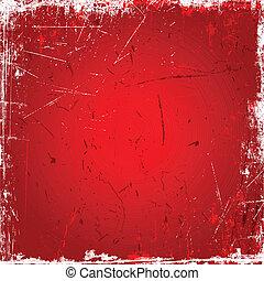 röd fond, grunge