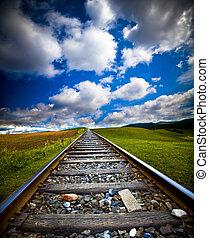 rörelse, tåg, fläck