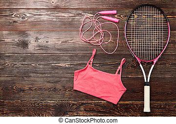 racket, top., badminton, cistern
