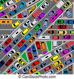 redd, trafik, blodstockning