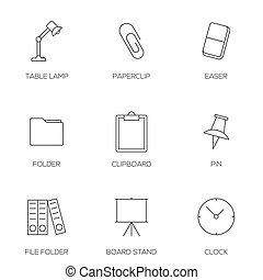 redskapen, skissera, ämbete ikon