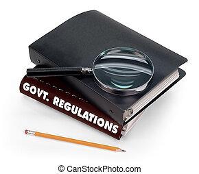 reglemente, regering