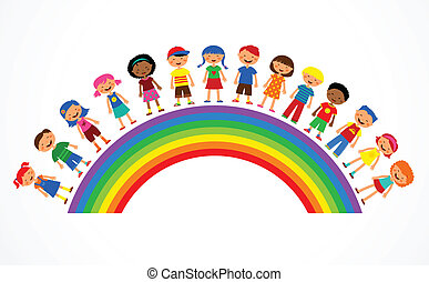 regnbåge, vektor, lurar, illustration, färgrik