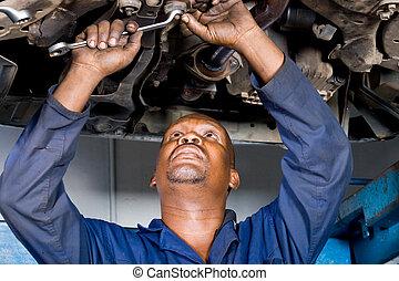 reparation, bil mekaniker