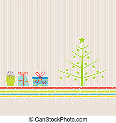 retro, bakgrund, jul